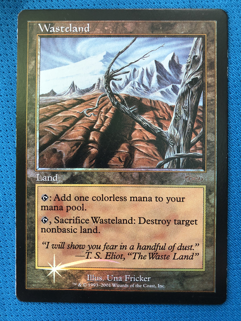 Wasteland  Magic Players Rewards 2001 Foil Magician ProxyKing 8.0 VIP The Proxy Cards To Gathering Every Single Mg Card.