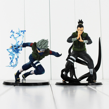 2 стиля Hatake Kakashi Nara Shikamaru ПВХ Фигурки игрушки NarutoCollectible модель куклы 12-15 см