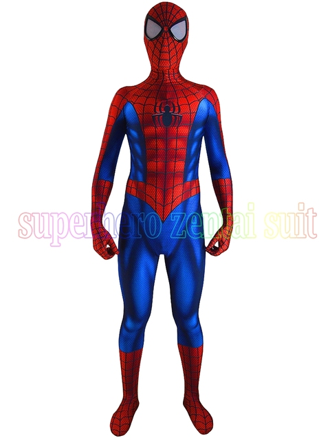 Date Incroyable spiderman costume Spandex Impression 3D Halloween Cosplay  Spider-man Zentai Costume Pour Adulte 5c18254e10c