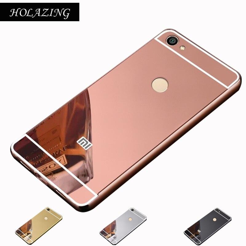 HOLAZING 2 в 1 съемная металлический Алюминий бампер для Xiaomi Redmi Note 5A Pro 5,5 с зеркалом сзади твердый переплет