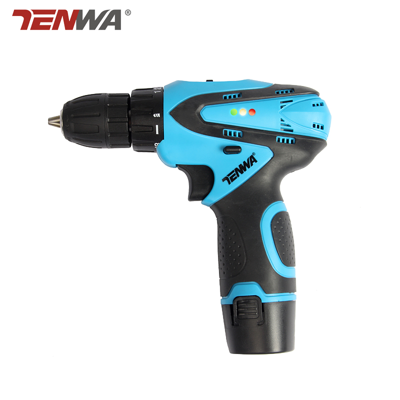 Tenwa 12V Electric Drill Electric Screwdriver Lithium Battery Rechargeable Parafusadeira Furadeira power tools Led light pro union upt 32007d portable electric screwdriver screw gun power tools parafusadeira with 2pcs electric screwdriver head