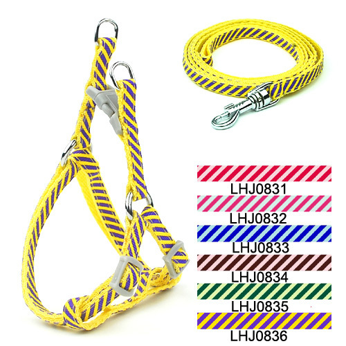0.8 см зоотоваров собак и кошек твил печати использовать поводок Set (6 цветов) 12 шт./лот Бесплатная доставка lhj0831