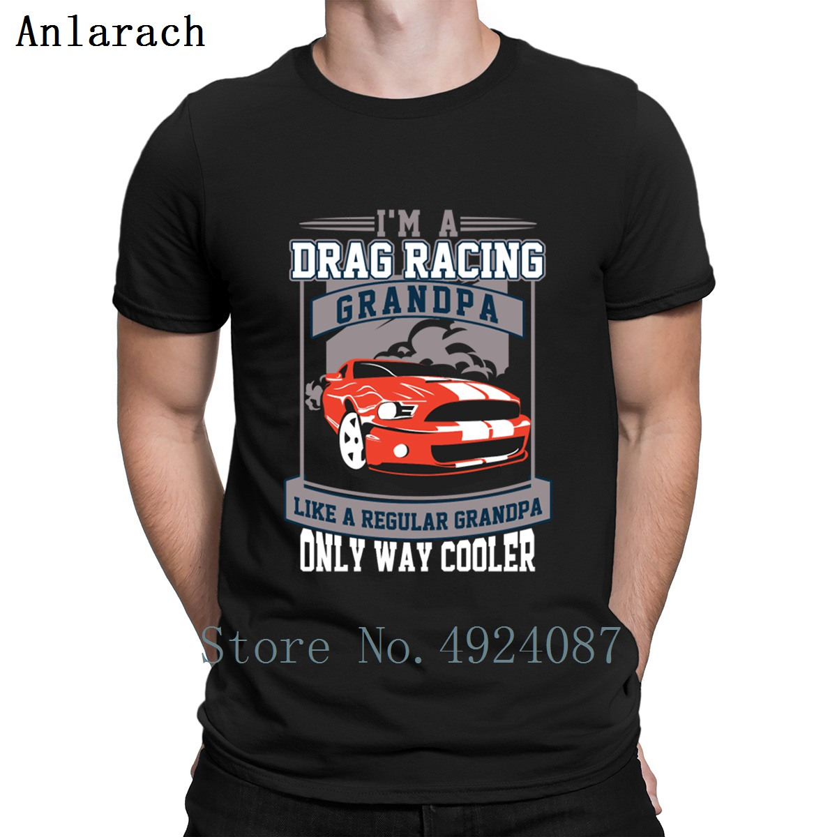 I'm A Drag Racing Grandpa <font><b>V8</b></font> Musclecar T Shirt Hot Sale Designing Summer 2019 Outfit <font><b>Tshirt</b></font> Men Great Tops Men Fashions Slogan image