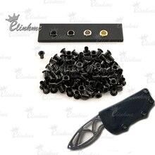 """50 шт./пакет#8-8 1/"""" Чисто Медный гвоздь Kydex кобура черный лак для ногтей ножны для ножа гвоздь Kydex оболочка заклепки сжигания люверсы. Инструменты для ручной работы"""