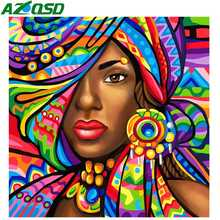 AZQSD Diamond Painting Full Square New Arrival Picture Of Rhinestones Embroidery Colorful Girl Crystal Mosaic Home Decor