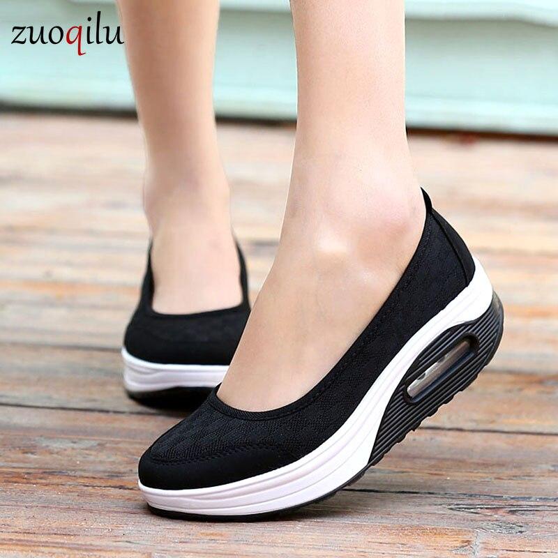 platform damesschoenen mesh ademend comfort dames casual schoenen wandelen casual schoenen dames loafers damesschoenen 2019