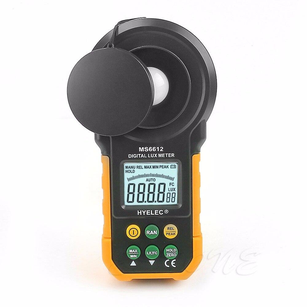 Medidor Digital Lux 200.000 Lux medidor de luz de prueba espectros rango automático de alta precisión Digital Luxmeter iluminómetro medir Nuevo 2018