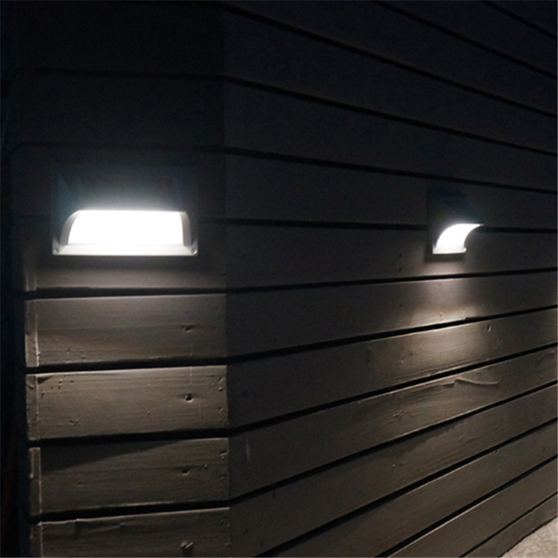 LED Solar Panel Step Wall Super Bright Lamp 5 led Waterproof Outdoor Garden Fence Light Energy Saving Corner Stair Garland Decor youoklight 0 5w 3 led white light mini waterproof solar powered fence garden lamp black