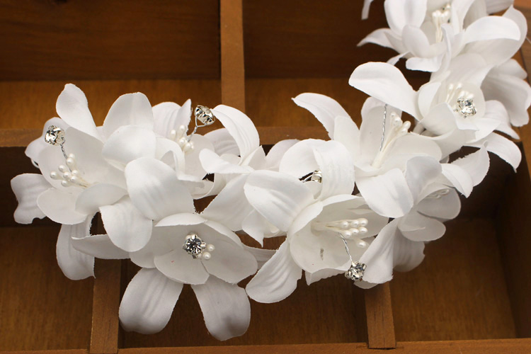 Bride Pearl Rhinestone Headpiece Hair Accessories Fascinator Wedding Comb Peigne Mariage