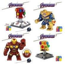 Avengers 4 Endgame Thanos Infinity Gauntlet Iron Man Legoed Marvel Playmobil Building Blocks Action Figures Gift Toys Children