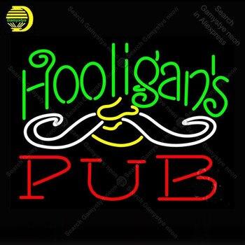 네온 사인 hooligans 펍 네온 전구 로그인 램프 펍 디스플레이 맥주 바 클럽 조명 벽 로그인 네온 사인 룸 letrero lampara