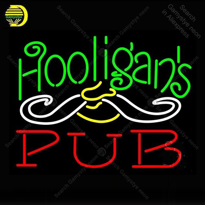 Enseigne néon pour Hooligans Pub néon ampoules enseigne lampe Pub affichage bière Bar Club éclairer enseigne murale enseigne néon pour chambre Letrero Lampara