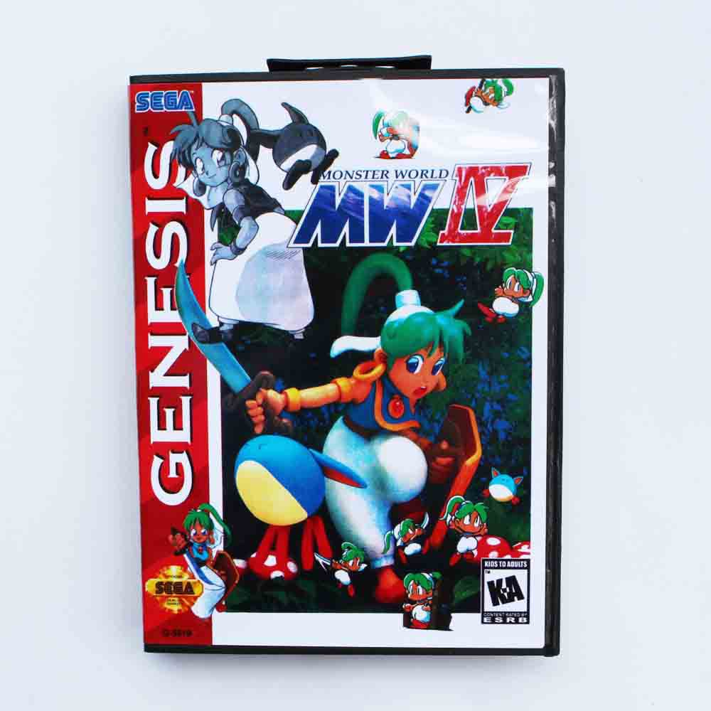 MW IV Game Cartridge 16 bit MD Game Card With Retail Box For Sega Mega Drive For Genesis