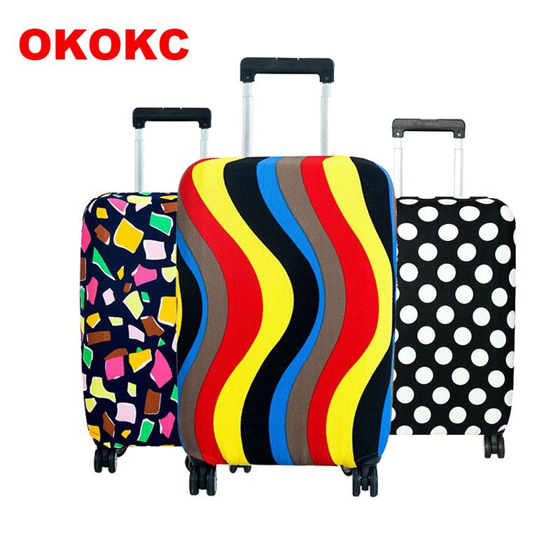 OKOKC Viajar na Estrada Bagagem Capa Protetora tampa da Mala trolley de Viagem Bagagem tampa Protetora Contra Poeira para 18 a 30 polegadas