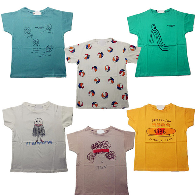 finest selection b0d36 9d8f1 US $7.49 |2017 New Summer Bobo Choses Baby T Shirt Tee Top For Boys Girls  Tops Tee Baby Kids Children Clothing Bebe Menino Vestidos-in T-Shirts from  ...