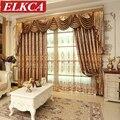 Роскошные европейские занавески с вышивкой для гостиной  кофейные занавески для спальни  тюлевые шторы с вышивкой для кухни