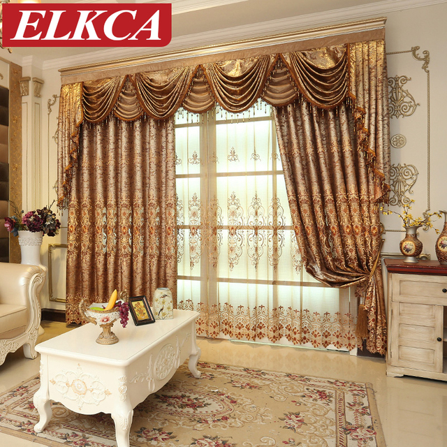 Aliexpress  Buy Luxury European Embroidered Curtains for - luxury curtains for living room