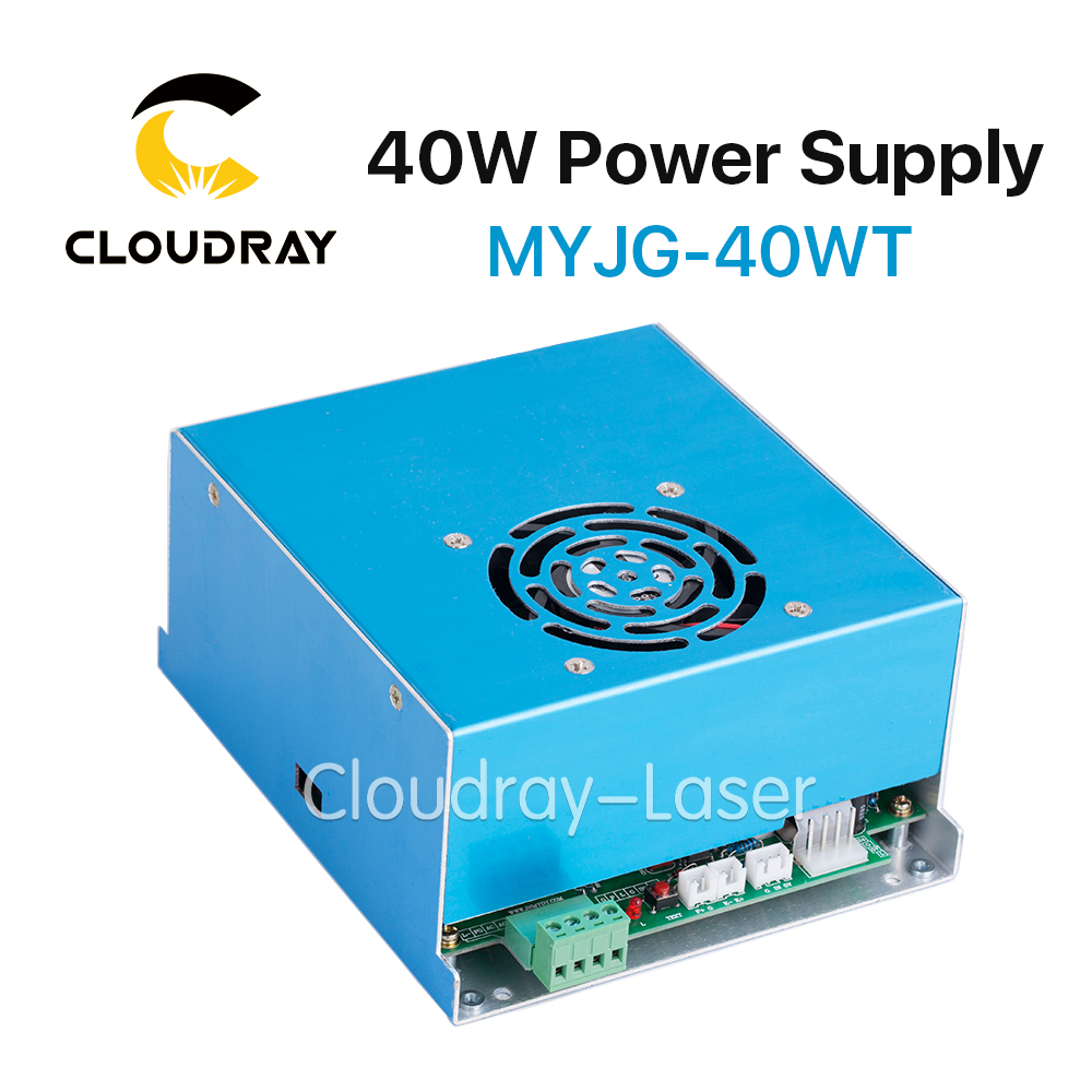 Cloudray MYJG 40W T White CO2 Laser Power Supply 110V/220V High Voltage for Laser Tube  Engraving Cutting Machine high voltage flyback transformer hy a 2 use for co2 laser power supply