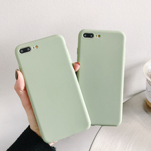 Simple ultrathin plain Phone 5 5s se 6 7 8 plus case silicone soft matte candy color back cover for iPhone x xs max xr slim tpu