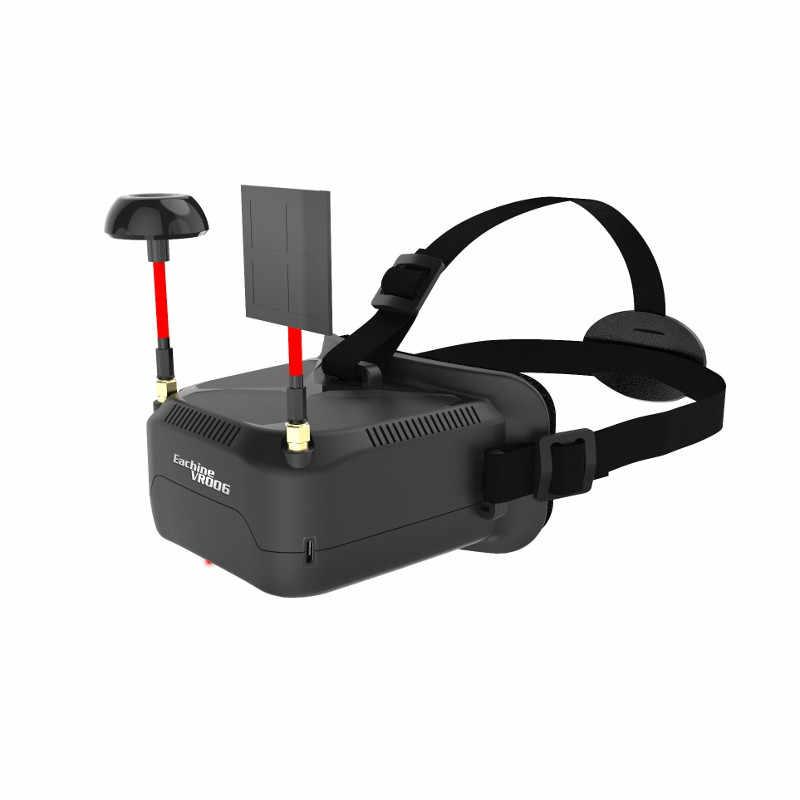 В наличии! Eachine VR006 VR-006 3 дюймов 500*300 Дисплей 5,8G 40CH Мини FPV очки построить в 3,7 в 500 мА/ч, Батарея VS EV800