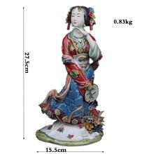 Chinese Statue Ceramic Ornaments Figurine Jia Qiao character Handicrafts Art Craft Collection qiao niya 28012