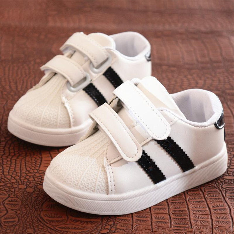 MHYONS Children Shoes Girls Boys Sport Shoes Antislip Soft Bottom Kids Baby Sneaker Casual Flat Sneakers white Shoes size 21-30