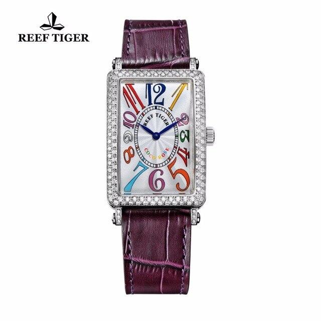 297a3bc2e90 Recife Tigre RT Relógios Senhora Relógio de Diamantes de Moda de Luxo de  Aço Retangular
