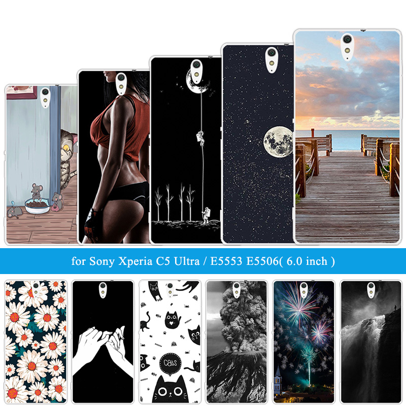 Phone Case For Sony Xperia C5 Ultra Cover Silicone 6.0