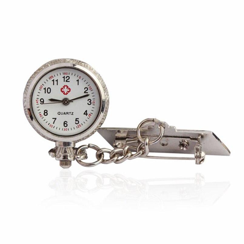 New Arrive 1pc Pocket Medical Nurse Fob Watch Women Dress Watches Clip-on Pendant Hanging Quartz Clock