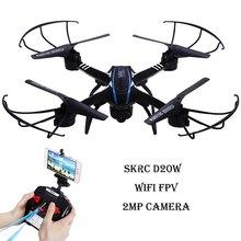 SKYC LK D20W RC Quadcopter Drone WiFi 2MP Cámara FPV 2.4 GHz 4 CH 6 Axis Gyro 3D Rollover RTF UFO RC Helicópteros de Control Remoto Juguetes