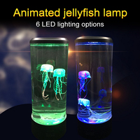 2.5W LED Jellyfish Lamp Aquarium 7 Color Night Light Decorative and Romantic Atmosphere Night Lamp USB Charging ABS Acrylic