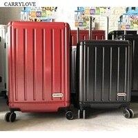 CARRYLOVE экспортируется в Японию, мило и ясно 18/20/24/26 дюймов Размер PC + ABS Rolling Чемодан Spinner марка Путешествия чемодан