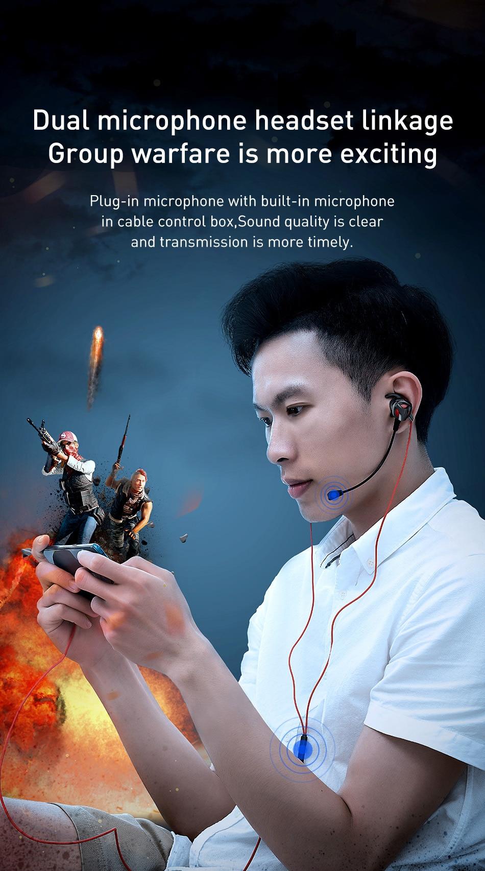 Baseus GAMO H15 3.5mm Gaming Earphones 4