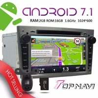 TOPNAVI 7'' Android 7.1 Auto Players for Opel Vectra Antara Zafira Corsa Meriva Astra 2004 2009 Car Grey Free map update GPS