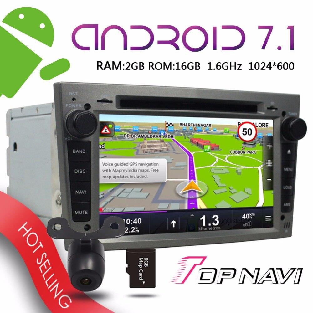 TOPNAVI 7 Android 7 1 Auto Players for Opel Vectra Antara Zafira Corsa Meriva Astra 2004