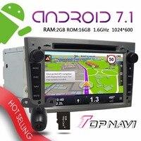 TOPNAVI 7'' Android 7.1 Auto Players for Opel Vectra Antara Zafira Corsa Meriva Astra 2004 2009 Car Grey Free map update GPS