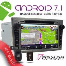 """TOPNAVI 7 """"Android 7.1 Reproductores de Automóviles para Opel Vectra Antara Zafira Corsa Meriva Astra 2004-2009 Coche Gris mapa Gratuito de actualización GPS"""