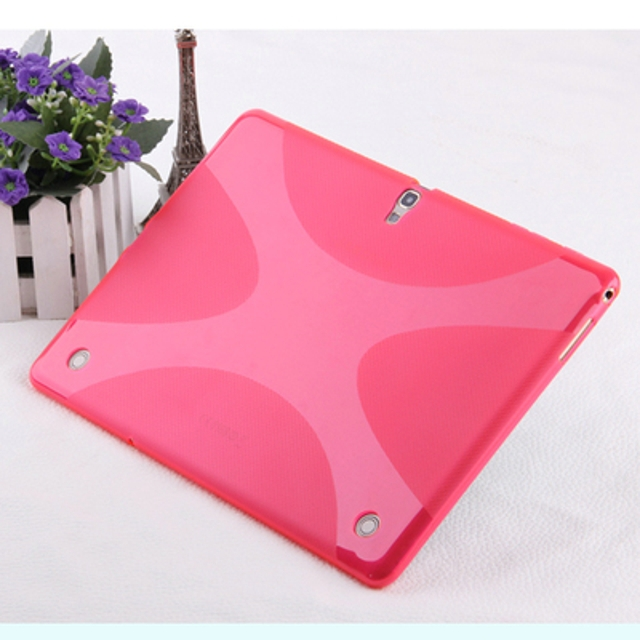 New Anti-skid Matte X Line Soft Silicone Rubber TPU Gel Skin Cover Protector Case For Samsung Galaxy Tab S 10.5 T800 T801 T805