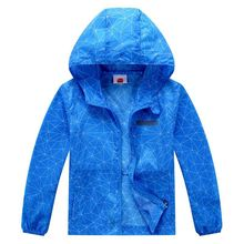 Child Coat Jackets Waterproof Breathable Summer Hooded Baby-Boys Kids Blue for 98-152cm