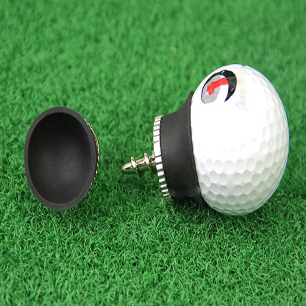 Image 4 - Golf Ball Sucker Cup Pick Ups Black Rubber Putter Suckers Screws into your putters Retrieves Ball Easily-in Golf Training Aids from Sports & Entertainment
