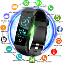 LIGE 2019 Sport Bracelet Waterproof Fitness Blood Pressure Heart Rate Monitor Pedometer Information Reminder Smart Watch Men+Box