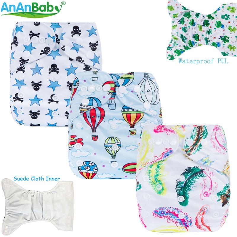 2018 बेबी क्लॉथ डायपर वॉशेबल बेबी क्लॉथ डायपर एक आकार फिट सभी एडजस्टेबल 1 पीसी शिशुओं के लिए सीरीज