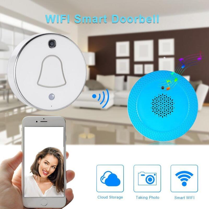 все цены на Smart Wireless WiFi Enabled Camera HD Battery Doorbell Viewer Wifi Free Cloud Storage Photo Video-eye Security Doorbell