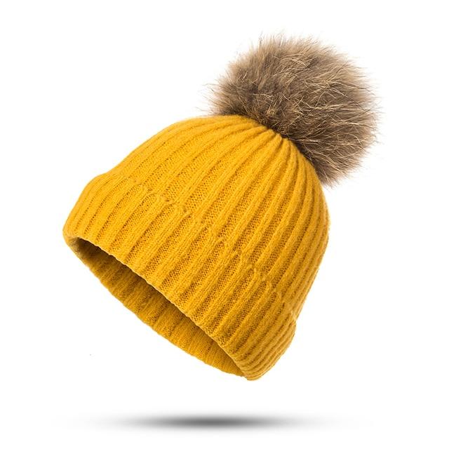 1370c8f926f Women Beanies Hat Pom Poms Winter Fashion Beanie Hat Knitting Skullies Caps  Ladies Knit Winter Warm Hats For Women Girls