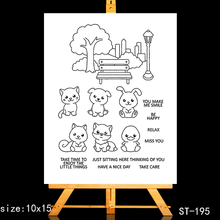 ZhuoAng Cute little animal Clear Stamps/Card Making Holiday decorations For  scrapbooking Transparent stamps