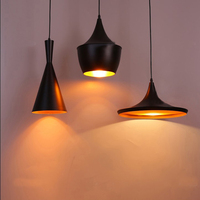 3PCS Set Modern LED Pendant Light E27 Base Edison Bulb Home Lighting Fixture Art Deco Designer