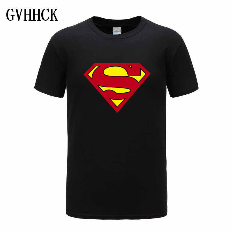 Di alta qualità Comic LOGO Super Hero T Shirt Superman Batman Capitan America il Flash Marvel Movie Uomini Cosplay T-Shirt Magliette e camicette