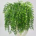 5 вилки искусственная ива ветки плетеная поддельные плача запасами ивовых деревьев зеленых растений ротанга сада стене висит украшение для...