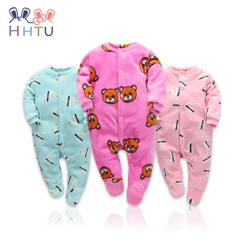 HHTU New 2017 Autumn Winter Baby Rompers Clothes Long Sleeved Coveralls for Newborns Boy Girl Polar Fleece Baby Clothing Soft cotton baby rompers set newborn clothes baby clothing boys girls cartoon jumpsuits long sleeve overalls coveralls autumn winter
