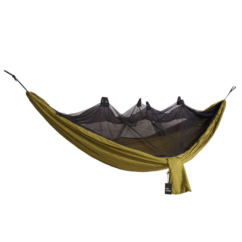 OneTigris Sobreviviente de Camping Hamaca con Mosquitero (Mosquetones y Cuerdas